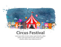 Circus. vector illustration Royalty Free Stock Photography