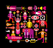 Circus - vector illustration on black Stock Images