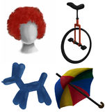 Circus vector illustration set Stock Images