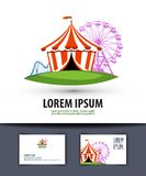 Circus vector logo design template. carousel or Stock Images