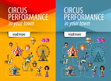 Circus vector logo design template. entertainment Stock Images