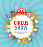 Circus vector logo design template. festival or Royalty Free Stock Photography