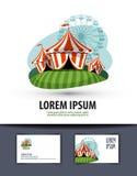Circus vector logo design template. show or Stock Photos