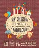 Circus vintage advertisement poster Royalty Free Stock Photos