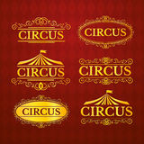 Circus vintage badges set, vector illustration Royalty Free Stock Image