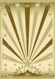 Circus vintage brown poster royalty free stock images