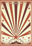 Circus vintage brown poster Stock Photo
