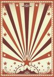 Circus vintage brown poster Stock Photo