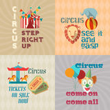 Circus Vintage Flat Pictograms Composition Stock Image