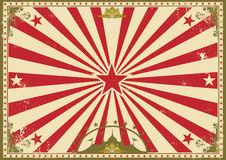 Circus vintage horizontal background stock image
