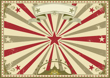 Circus vintage horizontal poster Stock Images
