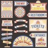 Circus vintage labels banner vector illustration. royalty free illustration