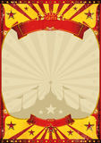 Circus vintage poster big top. A circus vintage poster with a grunge texture Royalty Free Stock Photos