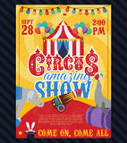 Circus Vintage Poster Royalty Free Stock Photo