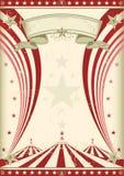 Rainbow red circus vintage stock illustration