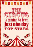 Circus vintage poster for your design Royalty Free Stock Photography