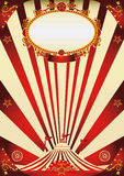Circus vintage red and cream poster Royalty Free Stock Photo