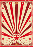 Circus vintage red poster stock photo