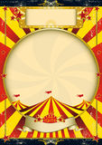 Circus vintage red and yellow poster