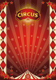 Circus vintage rhombus poster Royalty Free Stock Images