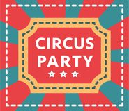 Circus vintage signboard labels banner vector illustration entertaining ticket sign Stock Image