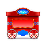 Circus wagon isolated on white vector vector illustration