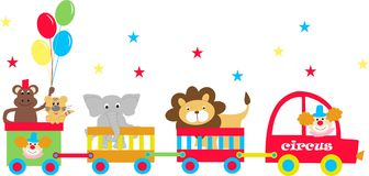 Circus wagons. With wild animals Stock Images