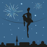Circus woman. Vector illustration Stock Image