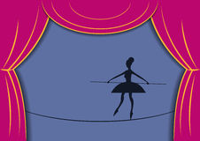 Circus woman. Vector illustration Stock Images