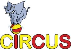 Circus Word Stock Images