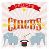 Circusaffiche Stock Afbeeldingen