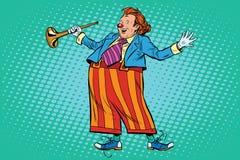 Circusclown in heldere kleren Royalty-vrije Stock Fotografie