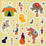 CircusElementsStickers Stock Images