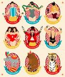 Circusinzameling Vector illustratie Royalty-vrije Stock Fotografie