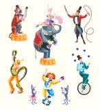 Circuskarakters Royalty-vrije Stock Fotografie