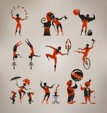 Circuskunstenaars Royalty-vrije Stock Afbeeldingen