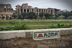Circusmaximus in Rome met Palatino-heuvel royalty-vrije stock fotografie