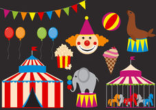 Circusreeks Royalty-vrije Stock Foto