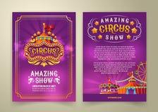 circusvlieger, banner royalty-vrije illustratie