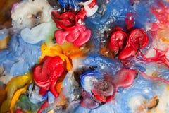 Cire colorée de bougie Photographie stock libre de droits