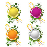 Cire de cachetage multicolore Images stock