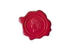 Cire de cachetage rouge Image stock