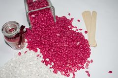 cire granulaire rouge et blanche images stock
