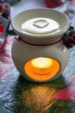 Cire Melter d'aromathérapie Photos stock