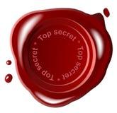 cire rouge de sceau illustration de vecteur