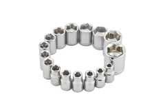 Cirecle of wrench sockets Stock Photo