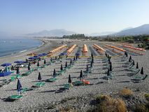 Cirella - plaże na wybrzeżu obraz stock