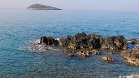 Cirella wyspa od falezy zdjęcie wideo