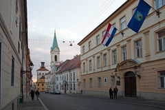 Cirilometodska street in Zagreb, Croatia. Royalty Free Stock Photos