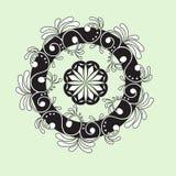 Cirkel abstract bloemenpatroon mandala Rond vectorornament Royalty-vrije Stock Fotografie